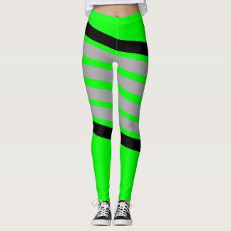 Athletische Streifen Neongamaschen Leggings