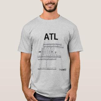 ATL Flughafen-Plan-T - Shirt