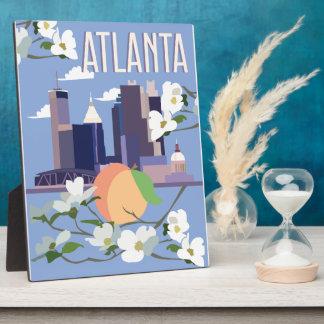 Atlanta-Anzeigen-Plakette Fotoplatte