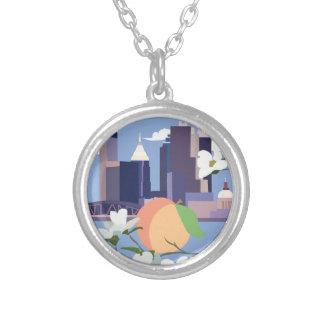 Atlanta-Kreis-Halskette Versilberte Kette