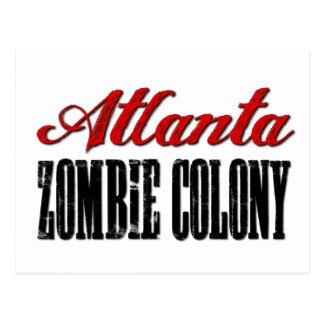 Atlanta-Zombie-Kolonie Postkarte