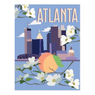 atlantatravelposter postkarte