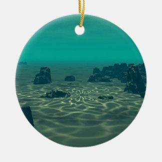 Atlantis Rundes Keramik Ornament