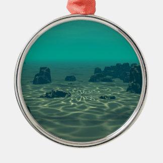 Atlantis Rundes Silberfarbenes Ornament