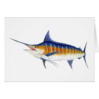 Atlantischer blauer Speerfisch Karte