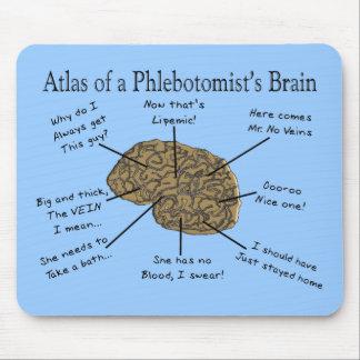 Atlas von eines Phlebotomists Gehirn Mauspad