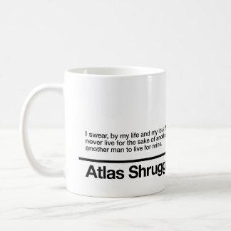 Atlas zuckte Eid Kaffeetasse