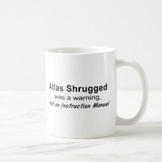 Atlas zuckte Warnung Kaffeetasse