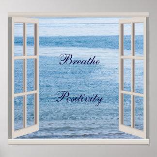 """Atmen Sie Bestimmtheits"" Zitatplakat Poster"