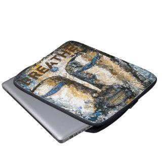Atmen Sie Buddha-Aquarell-Kunst-Laptop-Hülse Laptopschutzhülle