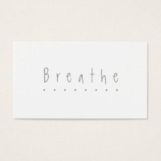 """Atmen Sie - die Karte """"nehmen Sie eines Bruches"""""""
