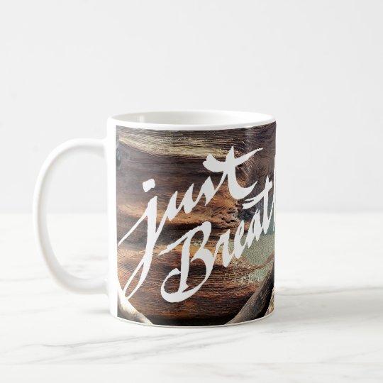 Atmen Sie einfach - Strand-Tasse Kaffeetasse