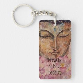 Atmen Sie glauben Buddha-Kunst-Schlüsselkette Schlüsselanhänger