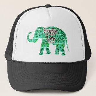 Atmen Sie Liebe-Elefanten Truckerkappe