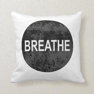 Atmen Sie sich entspannen Kissen