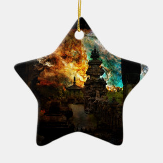 Atmen Sie wieder Bali Keramik Stern-Ornament