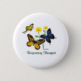 Atmungstherapeut-Schmetterlinge Runder Button 5,1 Cm