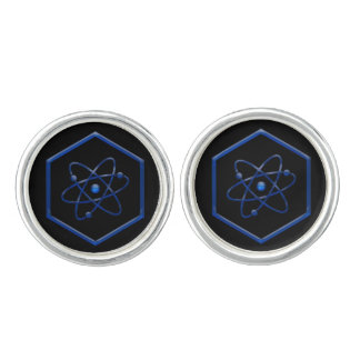 Atom-Chemie-Symbol Manschetten Knöpfe
