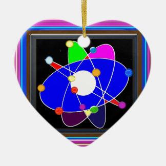 ATOM-Wissenschaft erforschen Studienforschung Keramik Herz-Ornament
