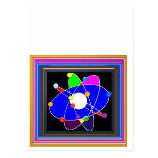 Atom-Wissenschafts-Schulforschungs-Entwicklung Postkarte