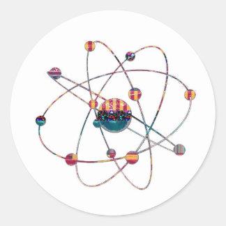 Atom-Wissenschafts-Schulforschungs-Entwicklung Runder Aufkleber