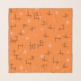 Atomalters-abstrakte Linien und Retro Sterne Schal