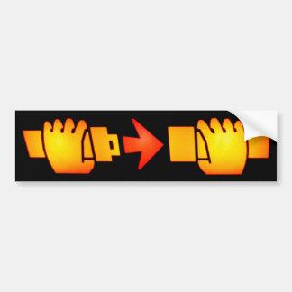 Attachez l'adhésif pour pare-chocs de signe de cei autocollant de voiture