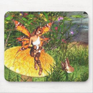 attente du mousepad de fée d'automne tapis de souris