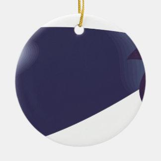 Auberginen-Cartoon Keramik Ornament