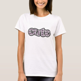 Auberginen-lila Gingham-Muster T-Shirt