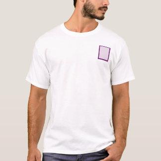 Auberginen-Ton auf Ton-Hibiskus T-Shirt