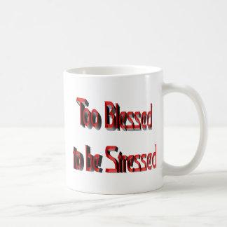 Auch gesegnet betont zu werden kaffeetasse