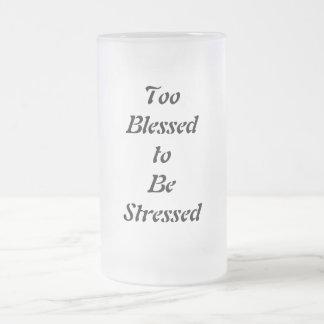 Auch gesegnet betont zu werden matte glastasse