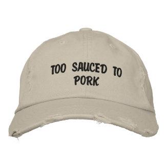 Auch Sauced zum Schweinefleisch Bestickte Baseballkappe