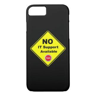 Aucun IL panneau d'avertissement jaune disponible Coque iPhone 7