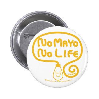 Aucun Mayo aucune vie Badge Rond 5 Cm
