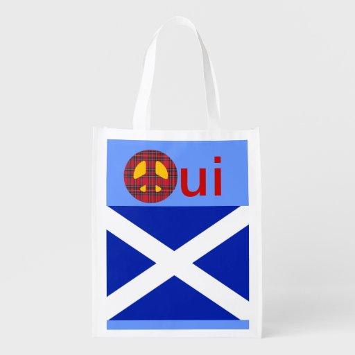 Aucune épicerie écossaise Fourre-tout de l'indépen Sac Réutilisable D'épcierie