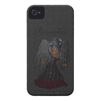 Audacieux gothique mignon de Blackberry d'ange Coques iPhone 4 Case-Mate
