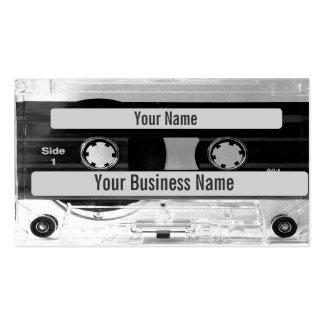 Audiomusik-Kassetten-Visitenkarte