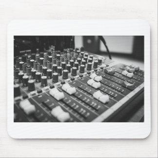 AudioSchwarz-weiße Konzert-Schwarzweiss-Konsole Mousepad