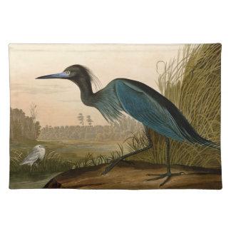 Audubon blaue Kran-Reiher-Vögel von Amerika Tischset