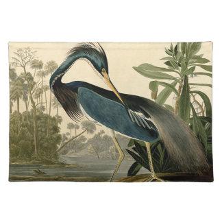 Audubon Louisiana Reiher Stofftischset