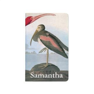 Audubon: Scharlachrot IBIS Taschennotizbuch