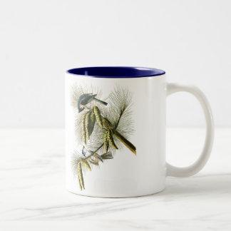 Audubon Vogel-Tasse, büscheliger Titmouse, 15 Unze Zweifarbige Tasse