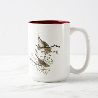 Audubon Vogel-Tasse, Lied-Spatz, 15 Unze. Zwei-Ton Zweifarbige Tasse