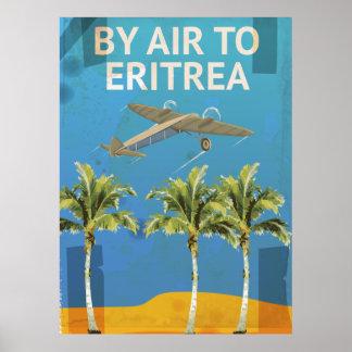 Auf dem Luftweg zum Vintagen Reiseplakat Eritreas Poster