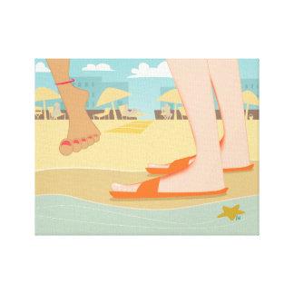 Auf dem Strand Gespannte Galerie Drucke