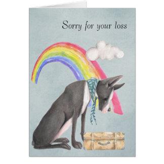 Auf dem Verlust eines Schoßhunds Grußkarte