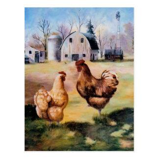 Auf der Bauernhof-Postkarte Postkarte