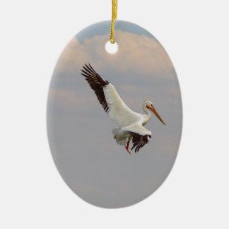 Auf der Jagd Ovales Keramik Ornament